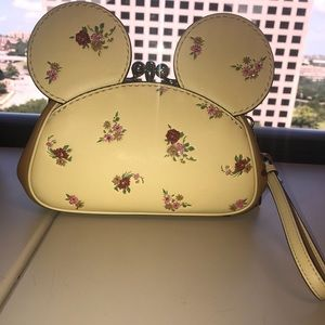 NWT Coach Minnie Mouse ears wristlet